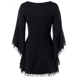 Bell Sleeve Lace Up T-Shirt -