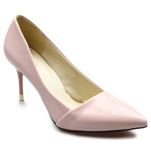 Stiletto Heels Patent Leather Pumps - Pink - 39