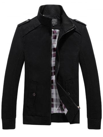Outfit Rib Cuff Stand Collar Jacket BLACK M