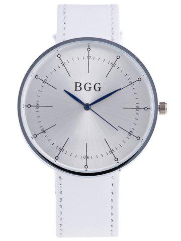 Affordable Formal Faux Leather Analog Watch WHITE