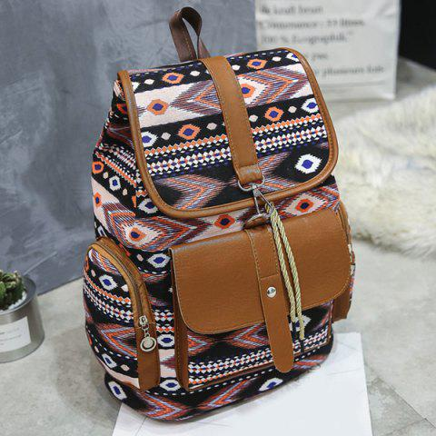 Hot Tribal Printed Canvas Backpack