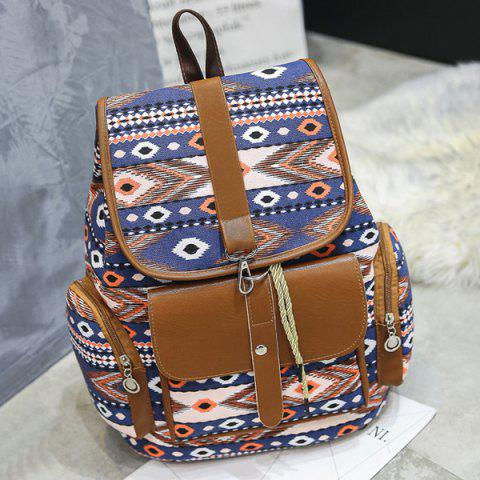 Cheap Tribal Printed Canvas Backpack