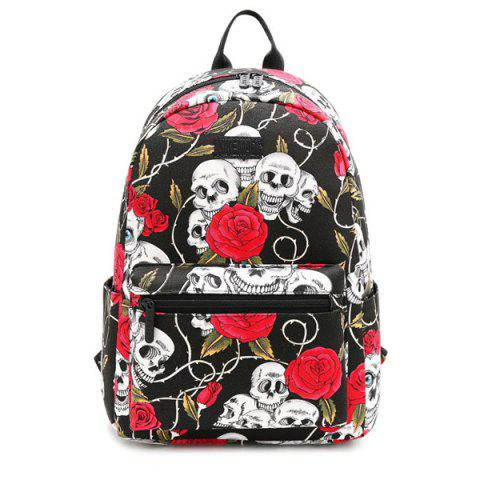 Shop Pad Shoulder Strap Printed Backpack