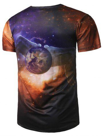 Online Wing Earth Print Galaxy Tee - L COLORMIX Mobile