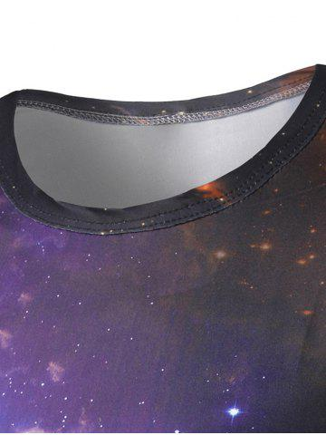 Unique Wing Earth Print Galaxy Tee - 2XL COLORMIX Mobile