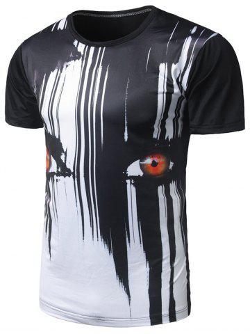 Affordable Eyes Print Cool Tee - M BLACK Mobile