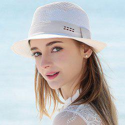 Shidks Strappy Travel Jazz Straw Hat
