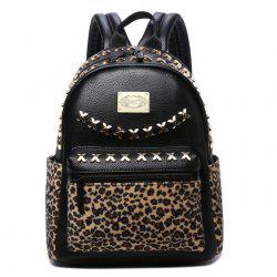 Criss Cross Leopard Print Backpack