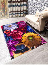 Flowers Anti-Slip Doormat Carpet