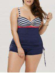 Stripe Padded Plus Size Bathing Suit