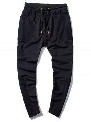 Pocket Mesh Panels Sweatpants