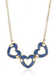Heart Hollow Out Alloy Pendant Necklace