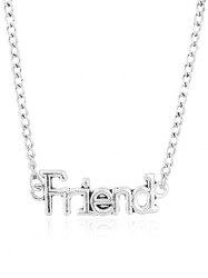 Vintage Friend Hollow Out Pendant Necklace