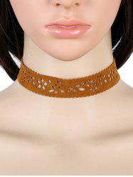 Flower Hollow Out Choker Necklace