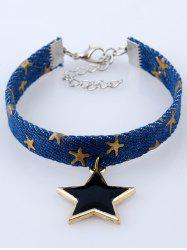 Denim Star Charm Bracelet