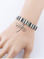 Braid Cloth Dragonfly Charm Bracelet