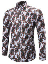 Long Sleeve Paisley Print Shirt