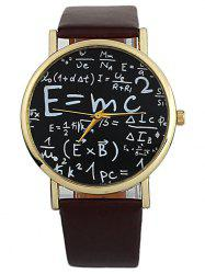 Faux Leather Math Equation Watch -