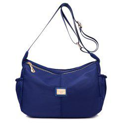 Nylon Zips Cross Body Bag