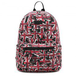 Pad Shoulder Strap Printed Backpack