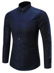 Long Sleeve Dots Pattern Shirt