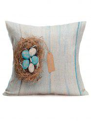 Hand Printed Easter Eggs Printing Pillowcase -