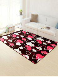 Home Decor Heart Pattern Skidproof Rug -