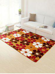 Water Absorption Non-Slip Flower Rug