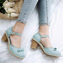 Scalloped Faux Leather Bow Pumps