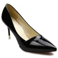 Stiletto Heels Patent Leather Pumps