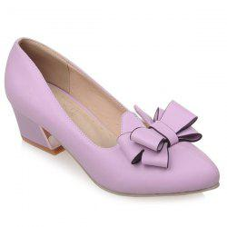Bowknot Block Heel Pumps