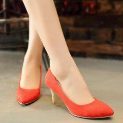 Faux Suede Stiletto Heel Pumps