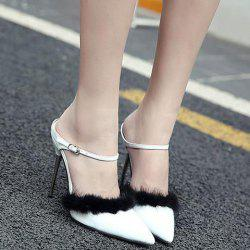 Patent Leather Faux Fur Pumps