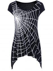 Spider Web Cap Sleeve T-Shirt -