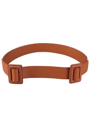 Faux Leather Double Buckle Belt