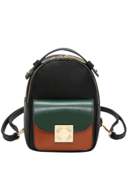 PU Leather Mini Backpack - COLORMIX