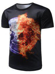 Fire Earth Print Tee