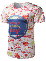 Graphic Print Paint Splatter Tee