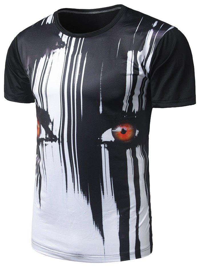 Eyes Print Cool TeeMEN<br><br>Size: M; Color: BLACK; Style: Fashion,Gothic; Material: Polyester; Sleeve Length: Short; Collar: Round Neck; Pattern Type: Print; Weight: 0.1700kg; Package Contents: 1 x Tee;