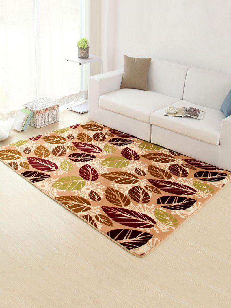 Palm Leaves Pattern Antiskid Soft Absorbent RugHOME<br><br>Size: 50*80CM; Color: LIGHT KHAKI; Type: Rug; Material: Polyester; Style: Contemporary; Shapes: Rectangle; Size(CM): 50*80CM; Weight: 0.4500kg; Package Contents: 1 x Rug;