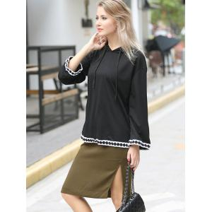 Drawstring Pullover Oversized Hoodie -