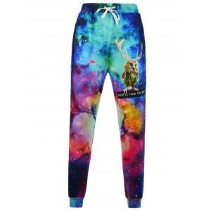 Animal Print Galaxy Jogger Pants
