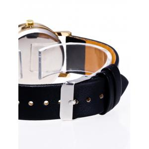 Faux Leather Planet Pattern Watch -