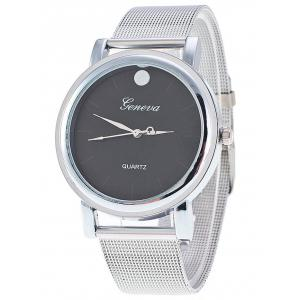 Stainless Steel Mesh Band Wrist Watch - Black