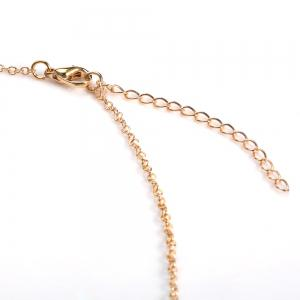 Fake Pearl Pendant Necklace - GOLDEN