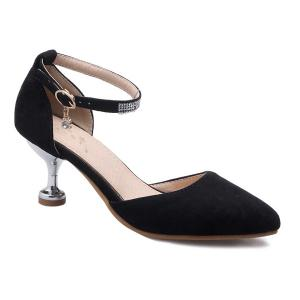 Stiletto Heel Two-Piece Pumps - Black - 37