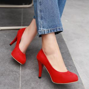 Stiletto Heel Platform Pointed Toe Pumps -