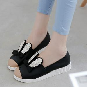 Bowknot Slip On Shoes -