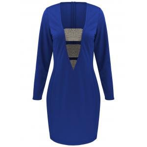 Long Sleeve Mini Bodycon Cut Out Bandage Dress