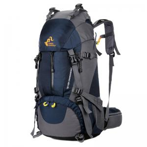 FreeKnight Nylon 50L Mountaineering Backpack with Rain Cover - Deep Blue